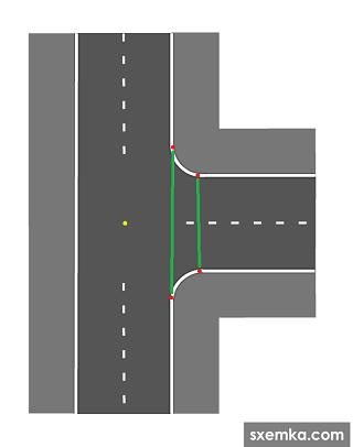 Развороты на перекрёстках в Англии.