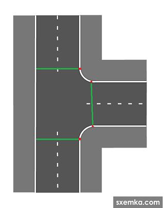 Т-образного перекрёстка